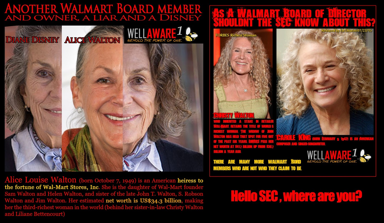Disney And Walmart Evil Diane Is Alice Walton