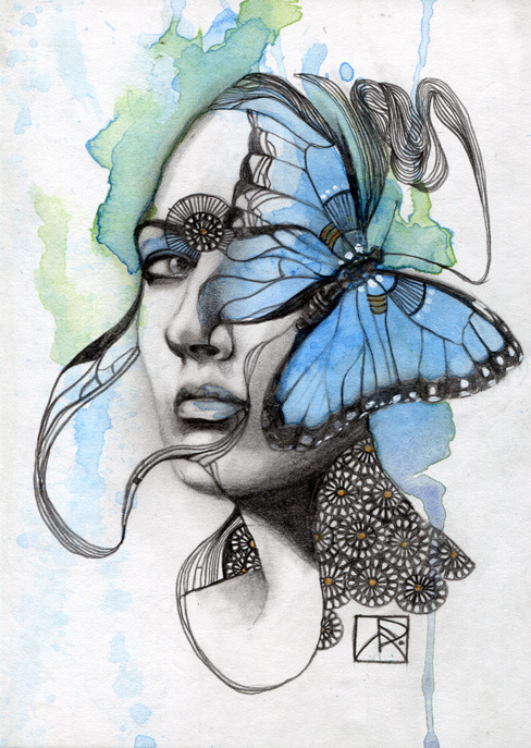 art patricia ariel art and illustration                               butterfly