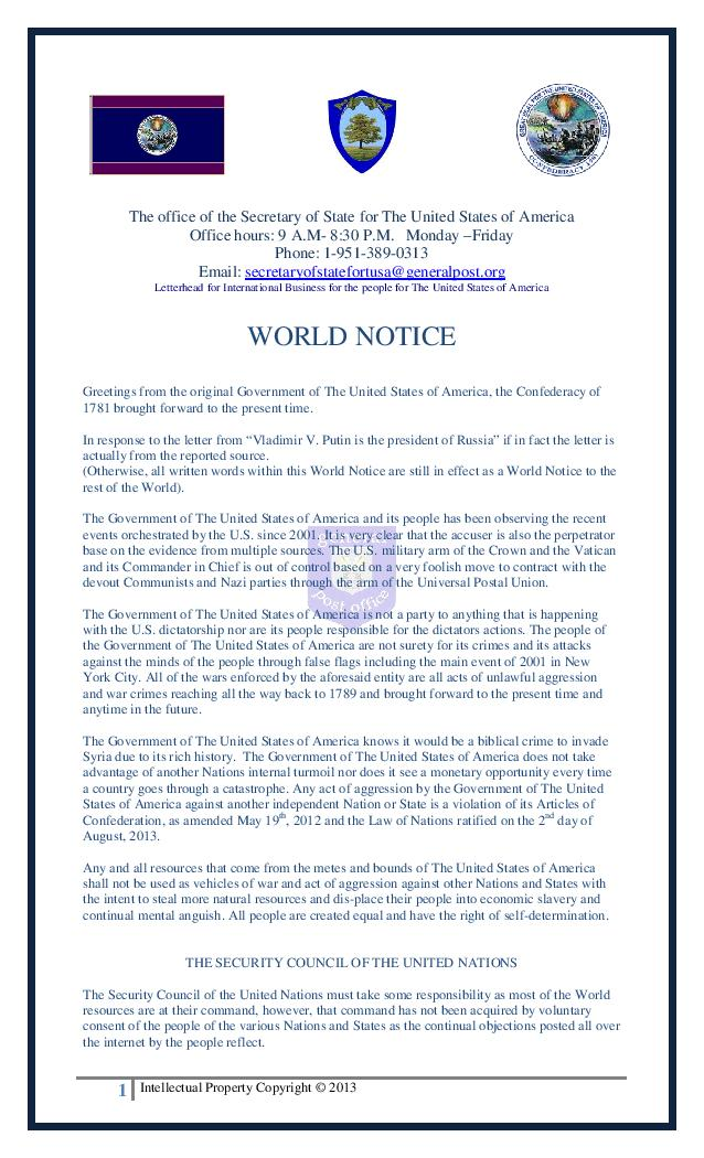 The Continental Dollar is not a hoax! and a message to David Wilcock! 9d794-world_notice-page-001